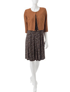 Madison Leigh Black / Tan Everyday & Casual Jacket Dresses