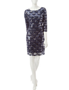 Sangria Navy Cocktail & Party Sheath Dresses