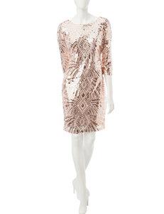 Sangria Pink Cocktail & Party Sheath Dresses
