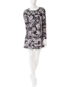 Trixxi Black & White Floral Print Dress