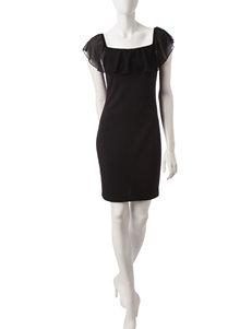 My Michelle Black Ruffle Dress