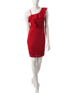 My Michelle Red Cocktail & Party Sheath Dresses