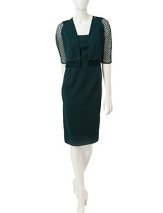 Maya Brooke Dark Green Everyday & Casual Jacket Dresses