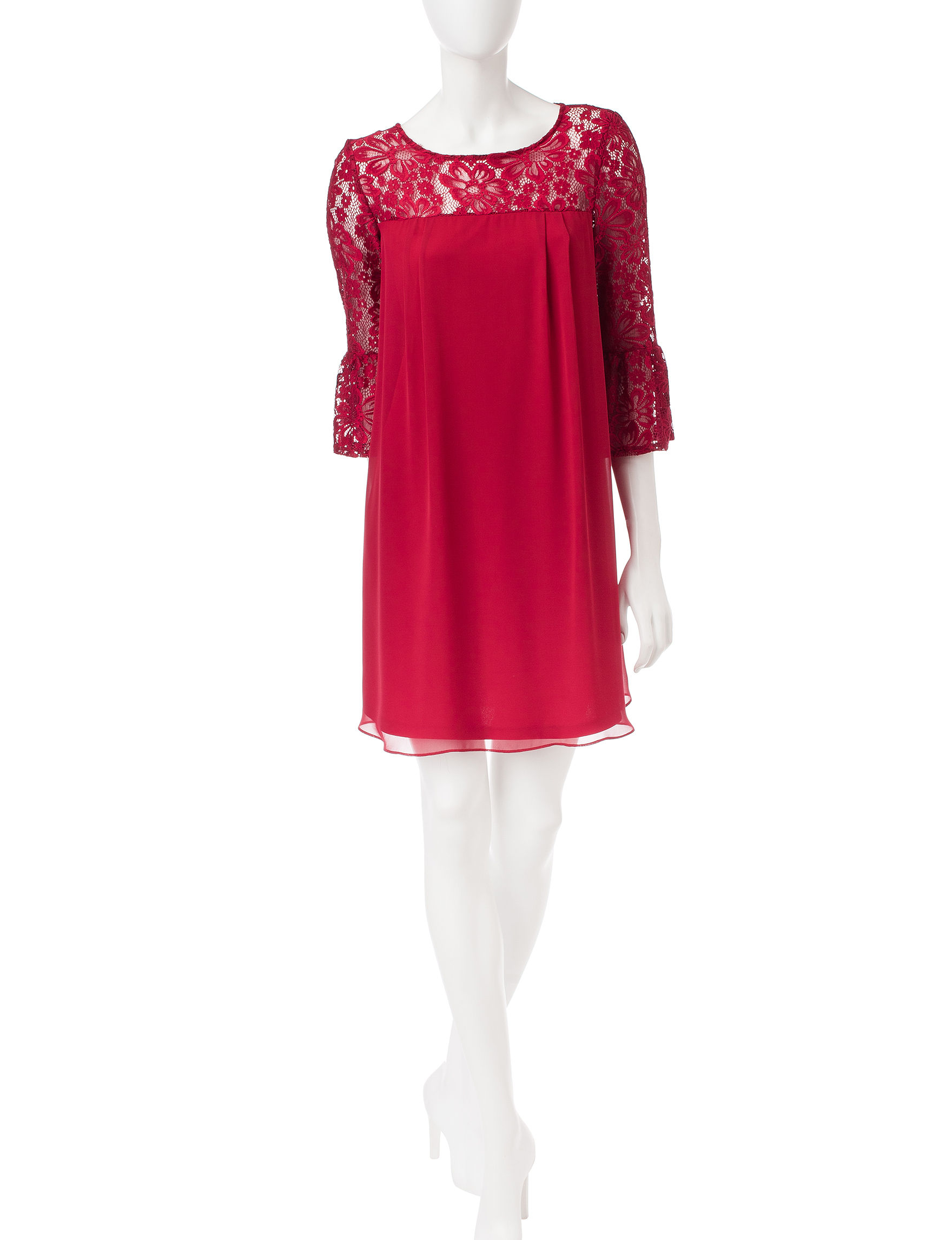 Perceptions Red Everyday & Casual Shift Dresses