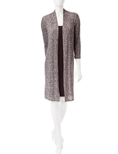 Connected Brown Everyday & Casual Jacket Dresses