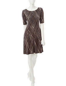 Connected Taupe Everyday & Casual A-line Dresses