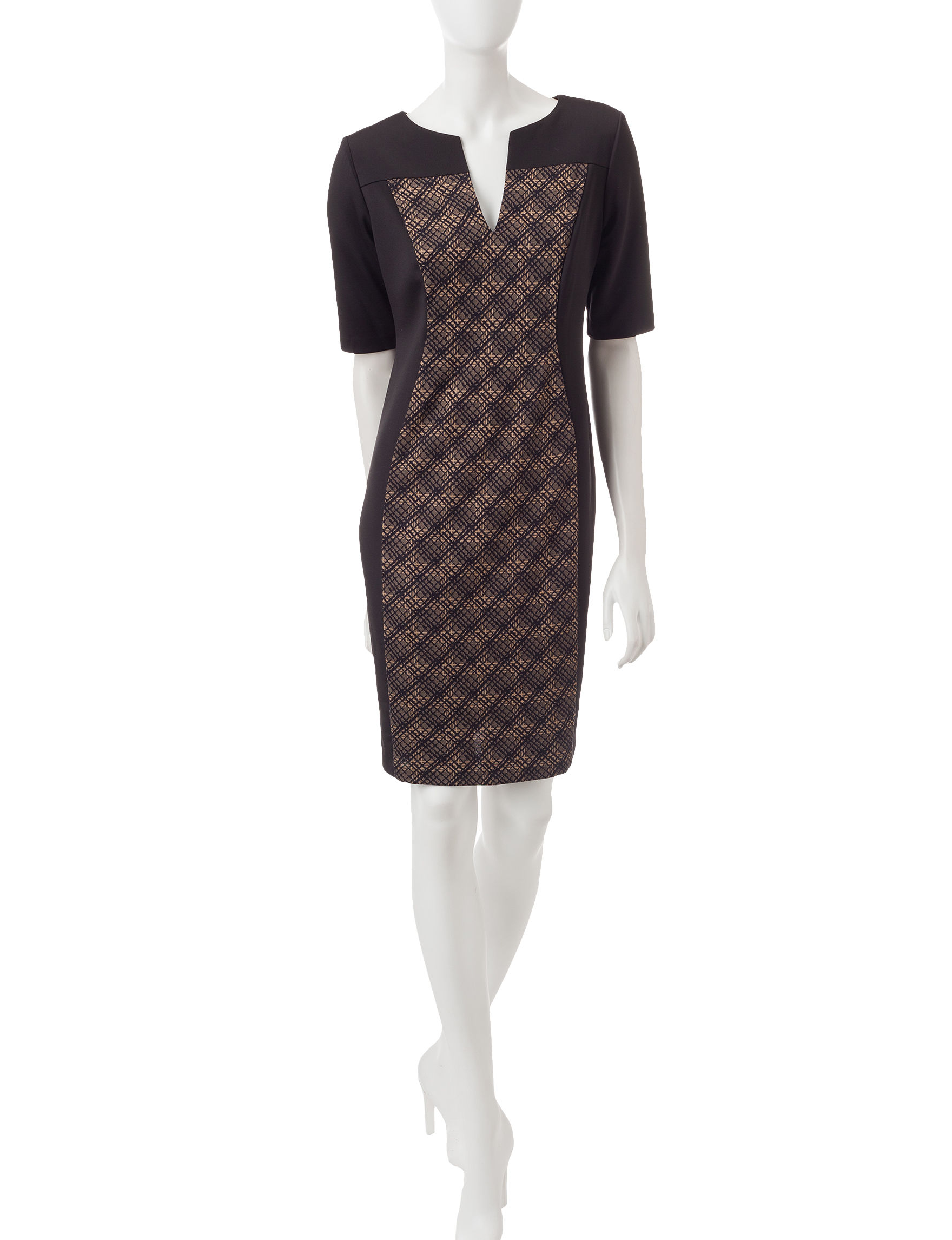Connected Camel Everyday & Casual Sheath Dresses
