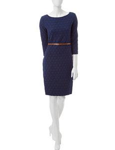 Sharagano Blue Everyday & Casual A-line Dresses