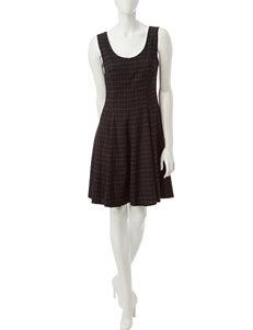Sharagano Black Everyday & Casual A-line Dresses