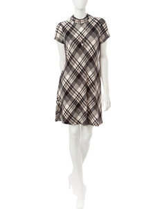 Halo Beige / Black Everyday & Casual A-line Dresses