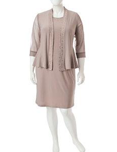 R & M Richards Brown Jacket Dresses