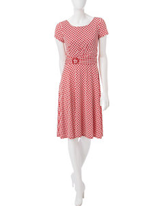 Perceptions Red Everyday & Casual A-line Dresses