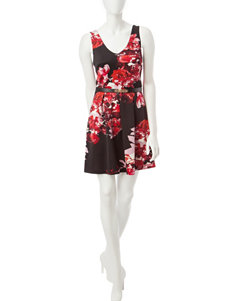 A. Byer Black / Red Everyday & Casual Shift Dresses