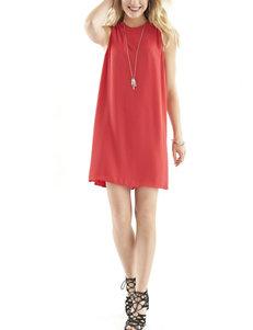 Signature Studio True Red Everyday & Casual A-line Dresses Shift Dresses