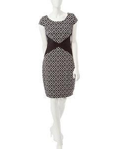 Sangria Black Everyday & Casual Sheath Dresses