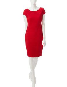 Sangria Red Everyday & Casual Sheath Dresses