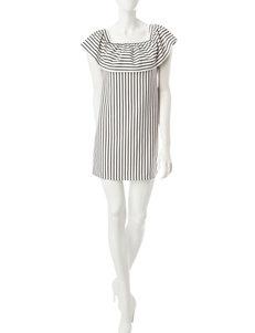 Speechless White / Black Everyday & Casual Shift Dresses