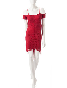 Trixxi Red Cocktail & Party Shift Dresses