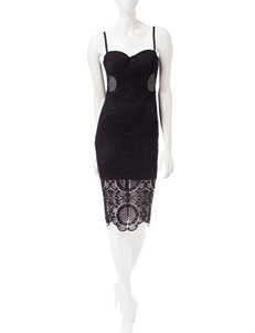 Trixxi Black Lace Bodice Dress