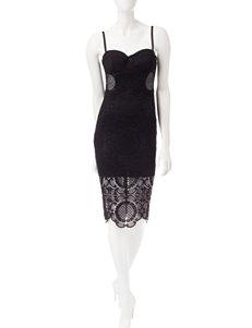 Trixxi Black Cocktail & Party Sheath Dresses