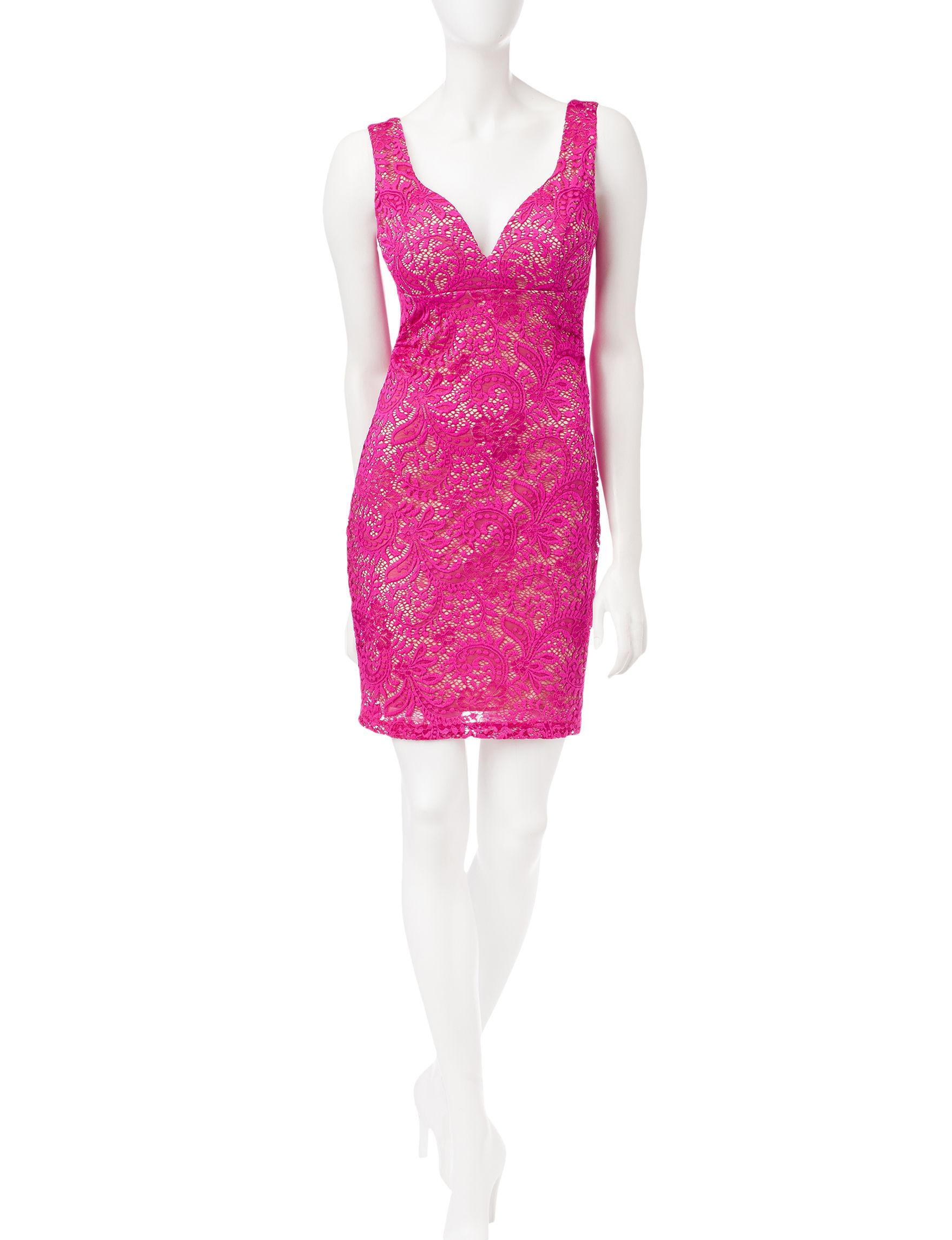 Emerald Sundae Pink Cocktail & Party Sheath Dresses