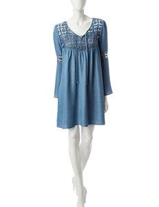 Signature Studio Chambray Crochet Dress