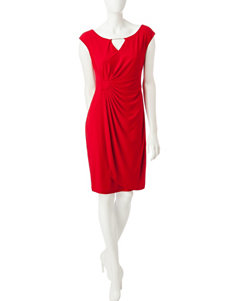 Connected Side Ruched Sheath Dress