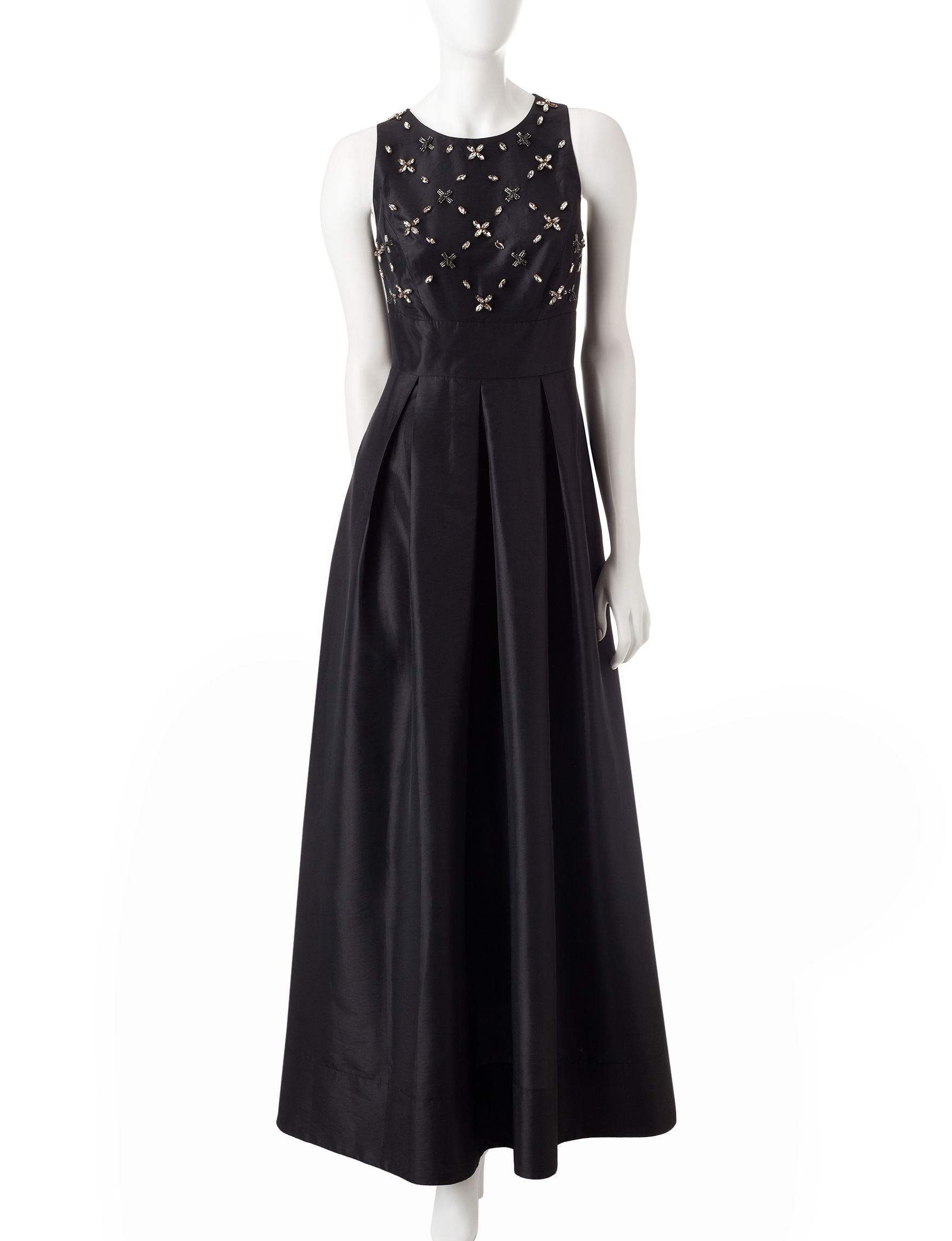 Sangria Black Evening & Formal A-line Dresses