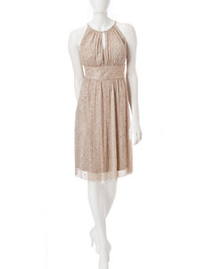 R & M Richards Champagne Cocktail & Party Evening & Formal A-line Dresses