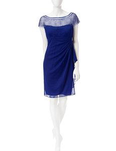 R & M Richards Royal Blue Cocktail & Party Evening & Formal Sheath Dresses