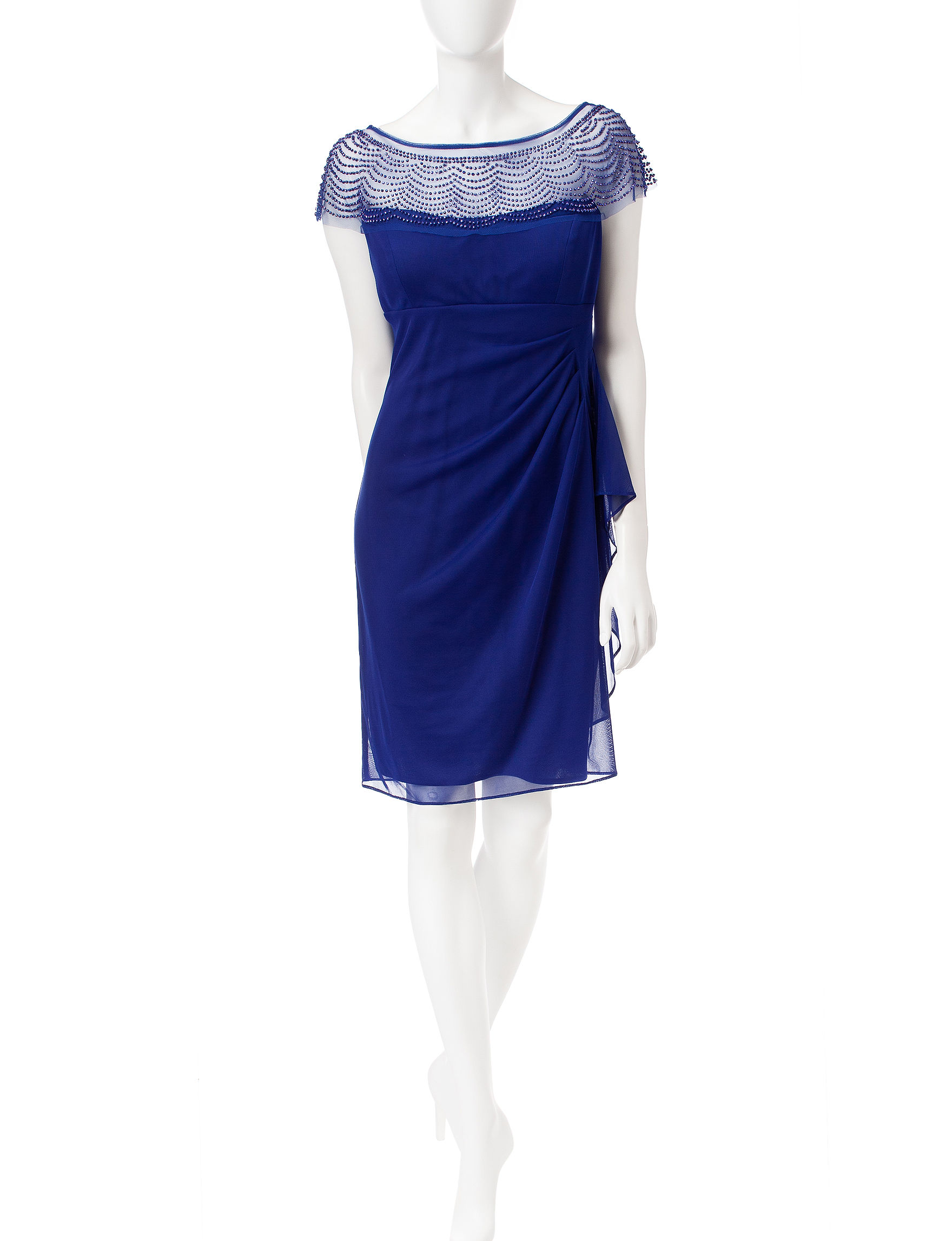R & M Richards Royal Blue Cocktail & Party Evening & Formal Sheath Dresses
