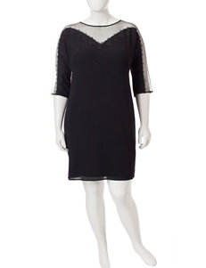 London Times Black Cocktail & Party Evening & Formal Shift Dresses