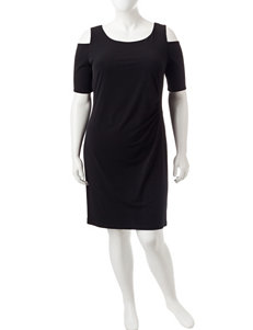 Connected Black Cocktail & Party Evening & Formal Sheath Dresses