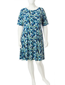 Connected Blue Everyday & Casual A-line Dresses