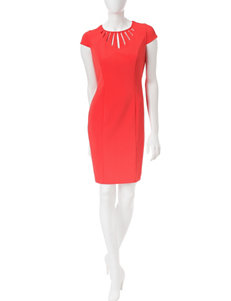 A. Byer Coral Everyday & Casual Sheath Dresses
