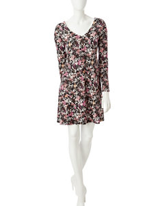 A. Byer Floral Everyday & Casual A-line Dresses