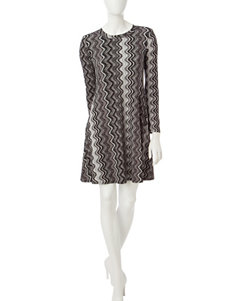 A. Byer Black / Grey Everyday & Casual A-line Dresses