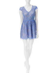 Speechless Blue Cocktail & Party Everyday & Casual Fit & Flare Dresses