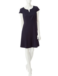 Connected Navy Everyday & Casual A-line Dresses