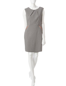 Sandra Darren Knit Sheath Dress