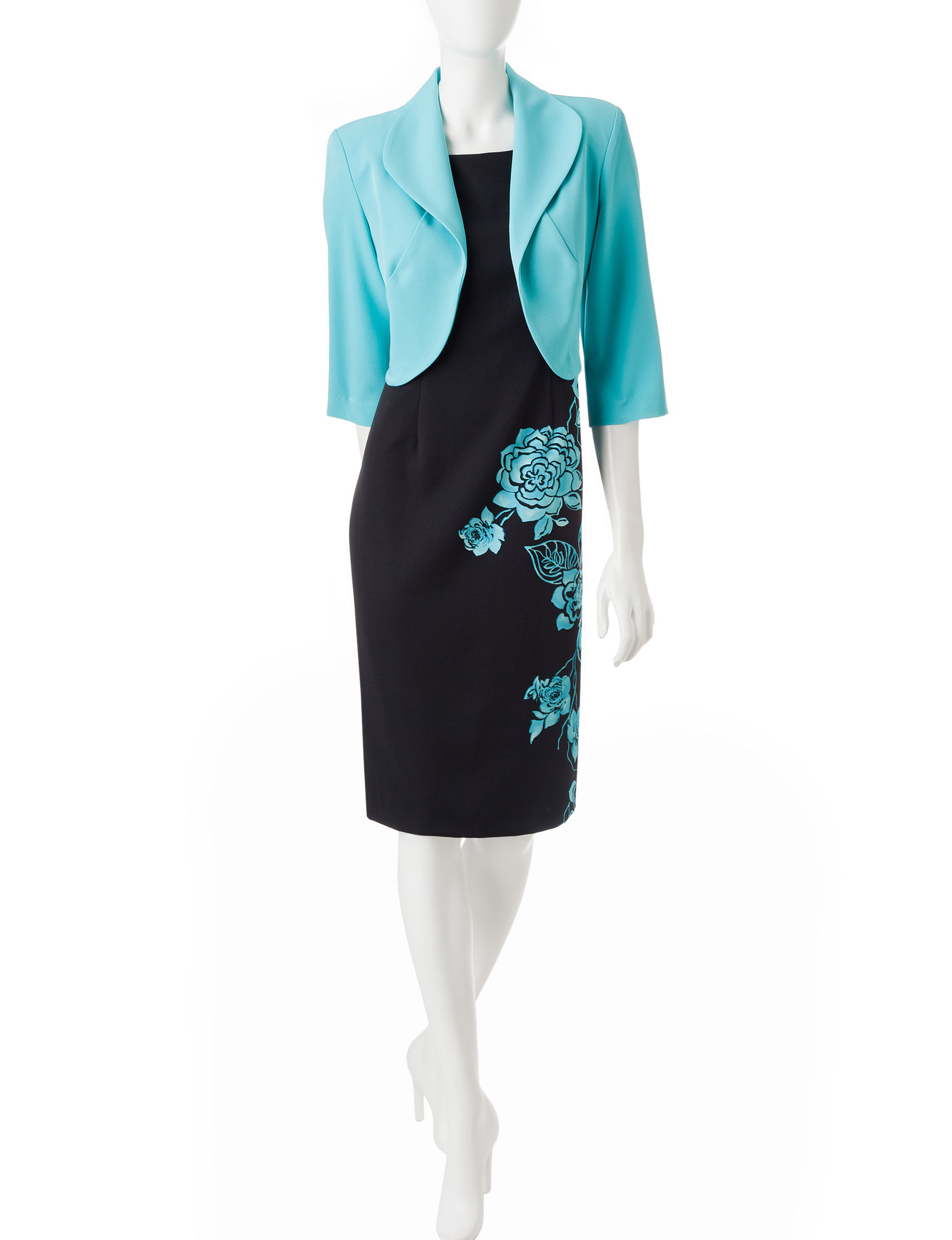 Dana Kay Turquoise Everyday & Casual Jacket Dresses