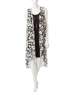 JM Studio White Everyday & Casual Jacket Dresses