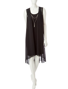 JM Studio Black Everyday & Casual Jacket Dresses