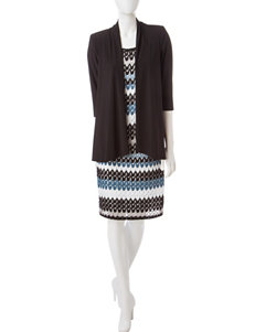 R & M Richards Black Everyday & Casual Jacket Dresses