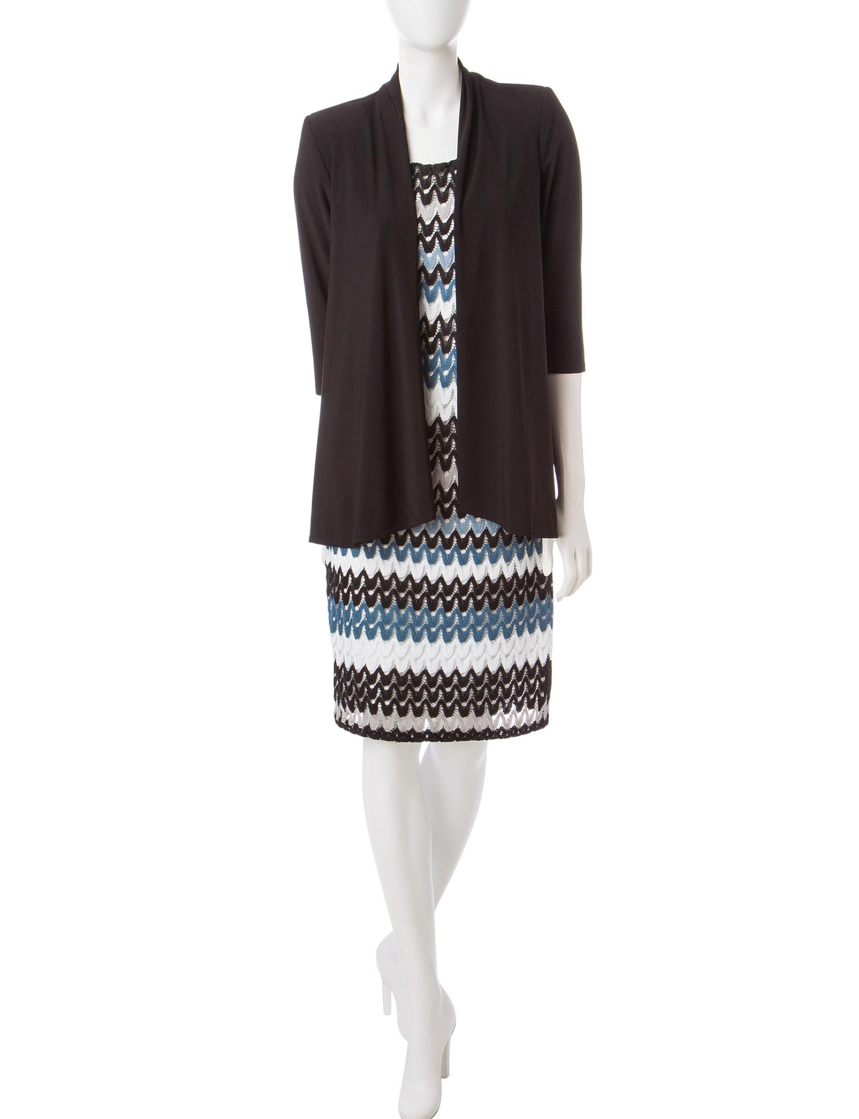 R & M Richards Black Everyday & Casual Jacket Dresses