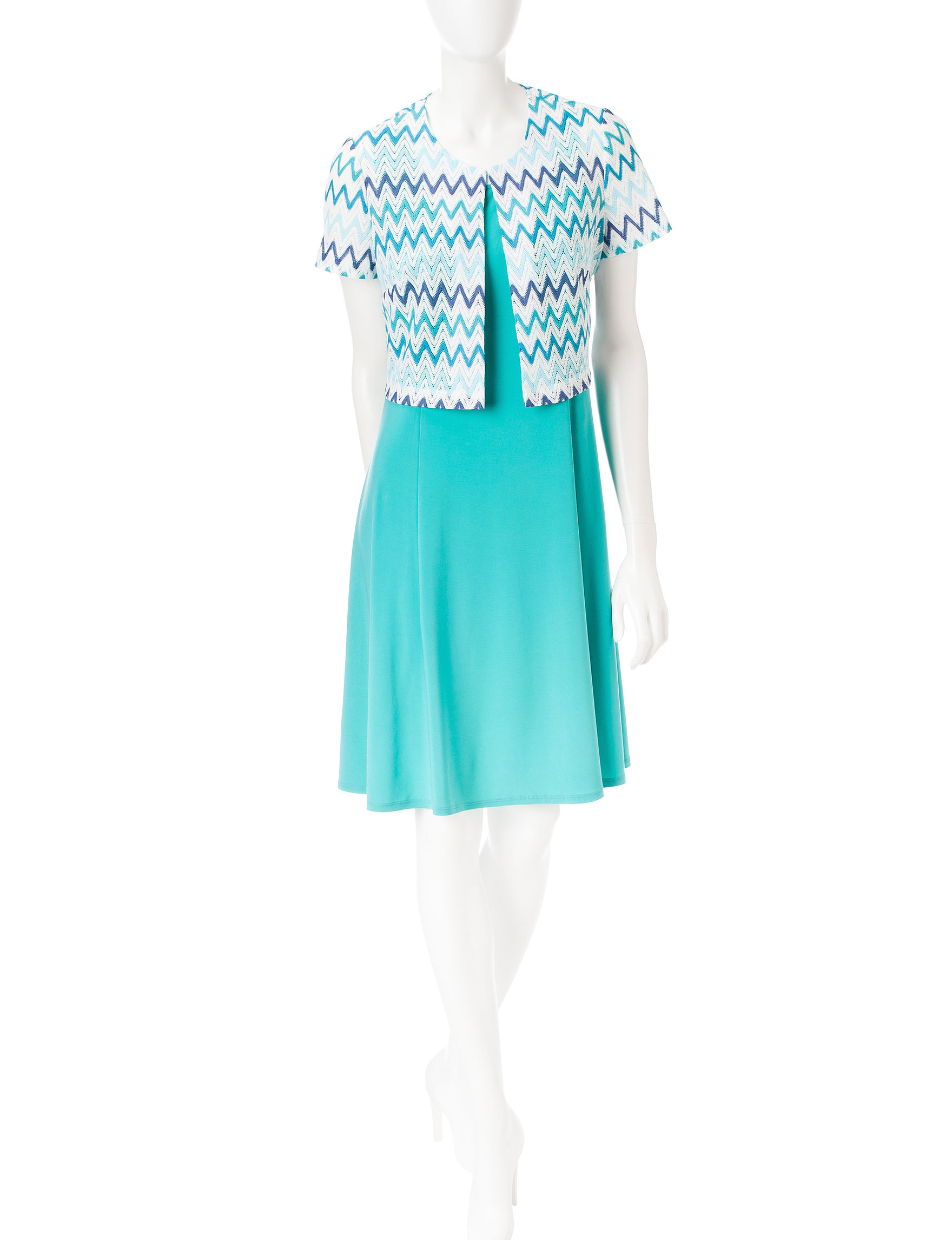 Perceptions Blue Everyday & Casual Jacket Dresses
