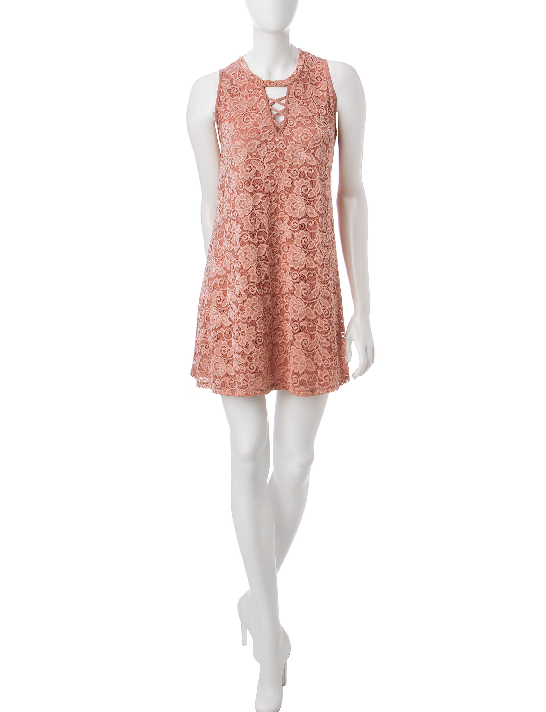 Liberty Love Beige Cocktail & Party Everyday & Casual Shift Dresses