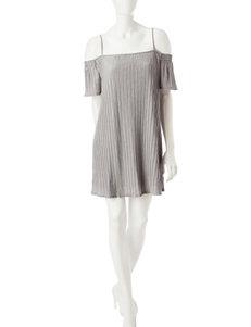Signature Studio Gray Everyday & Casual Shirt Dresses