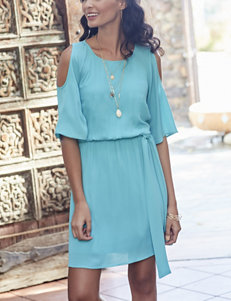 Signature Studio Blue Cold Shoulder Dress
