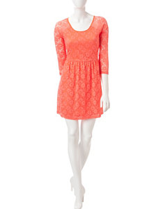 Justify Coral Everyday & Casual Fit & Flare Dresses